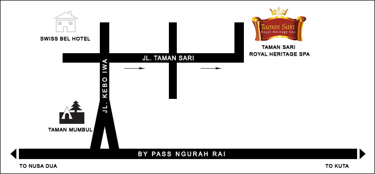Taman Sari Royal Heritage Spa Map